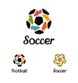 Hand drawn logo soccer ball and football boots vector image vector image