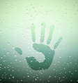 handprint on Sweaty Window vector image vector image
