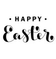happy easter lettering isolated on white vector image