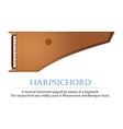 Harpsichord vector image