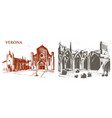 historical old building facade in venice gothic vector image vector image