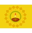 indian diwali diya vector image vector image