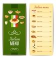 Italian Food Menu vector image vector image
