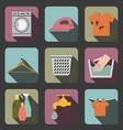 laundry flat icon vector image vector image