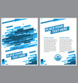 layout template design of poster - abstract lines vector image vector image