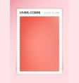 living coral fabric sample vector image