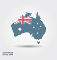 map of australia in australian flag colors vector image
