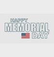 memorial day greeting card flag usa vector image