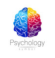 modern brain sign of psychology human creative vector image vector image