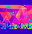 modern triangle abstract background 3 vector image vector image