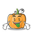 money mouth pumpkin character cartoon style vector image vector image