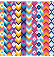 Multicolor ethnic stripe pattern vector image vector image