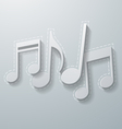 Music Notes on White Paper Background vector image vector image