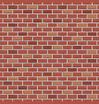 red raw brick wall seamless pattern background vector image