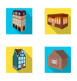 residential house in english style a cottage with vector image vector image