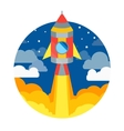 Rocket Ship Flying in Circle vector image vector image
