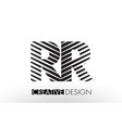 rr r lines letter design with creative elegant vector image