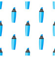 seamless pattern with blue highlight pens vector image vector image