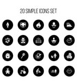 set of 20 editable kid icons includes symbols vector image