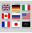 Set of G8 flags vector image vector image