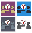 set of yahoo icon social company logo search vector image vector image