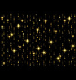 sparkling golden rain background vector image vector image
