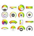 speedometer icons credit score indicators vector image vector image