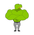 Strong Tyrannosaurus with big muscles Dinosaur vector image vector image