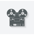 tape recorder icon vector image vector image