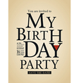 typography birthday card design template vector image vector image