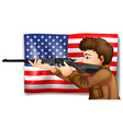 USA hunter vector image