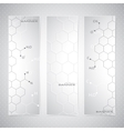 Vertical molecule Set of Banners on gray vector image vector image