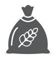 wheat bag glyph icon grain and farm seed sack vector image