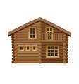 wooden hut vector image