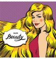 for beauty salon retro pop vector image