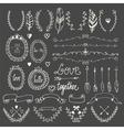 Hand drawn graphic set Wedding set of arrows vector image