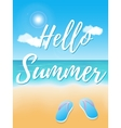 Hello Summer poster vector image