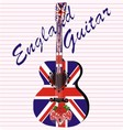 England acoustic guitar vector image