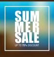 summer sale badge label promo banner template vector image