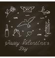 Symbols set for Valentines Day vector image