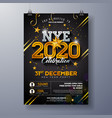 2020 new year party celebration poster template vector image vector image