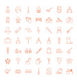 49 work icons vector image vector image