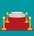 a stage with a red carpet flat vector image vector image