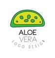 aloe vera logo design green natural product badge vector image vector image