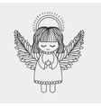 Angel decoration for Christmas season vector image