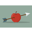 Apple with arrow vector image vector image