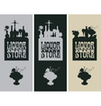 Banners for liquor store vector image