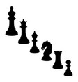 black chess vector image
