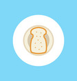bread icon sign symbol vector image