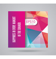 Bright summer card with abstract geometric vector image vector image